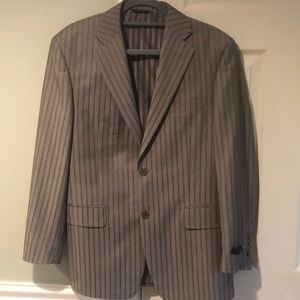 Vitarelli Modern Slim Fit Taupe Stripe Suit, BNWT